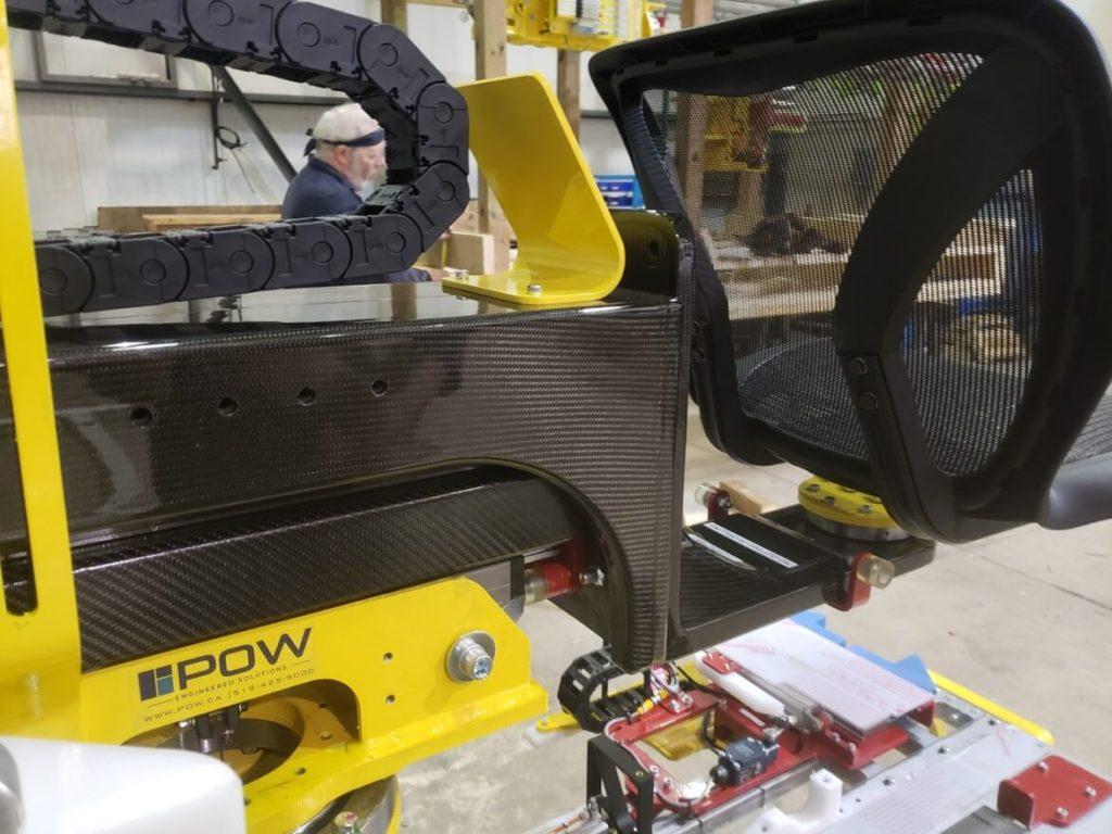design of carbon fiber raku seat